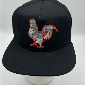 Chicken Rooster hat SnapBack black cap